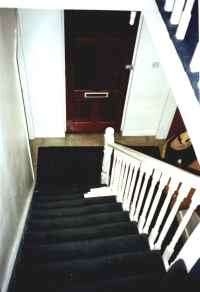 The Staircase Of Sudden Death, from 1st floor, looking toward front door.